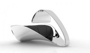 complemento decorativo de arquitectura silla futurista